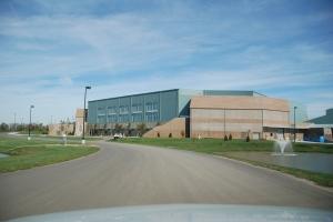 The new indoor arena.