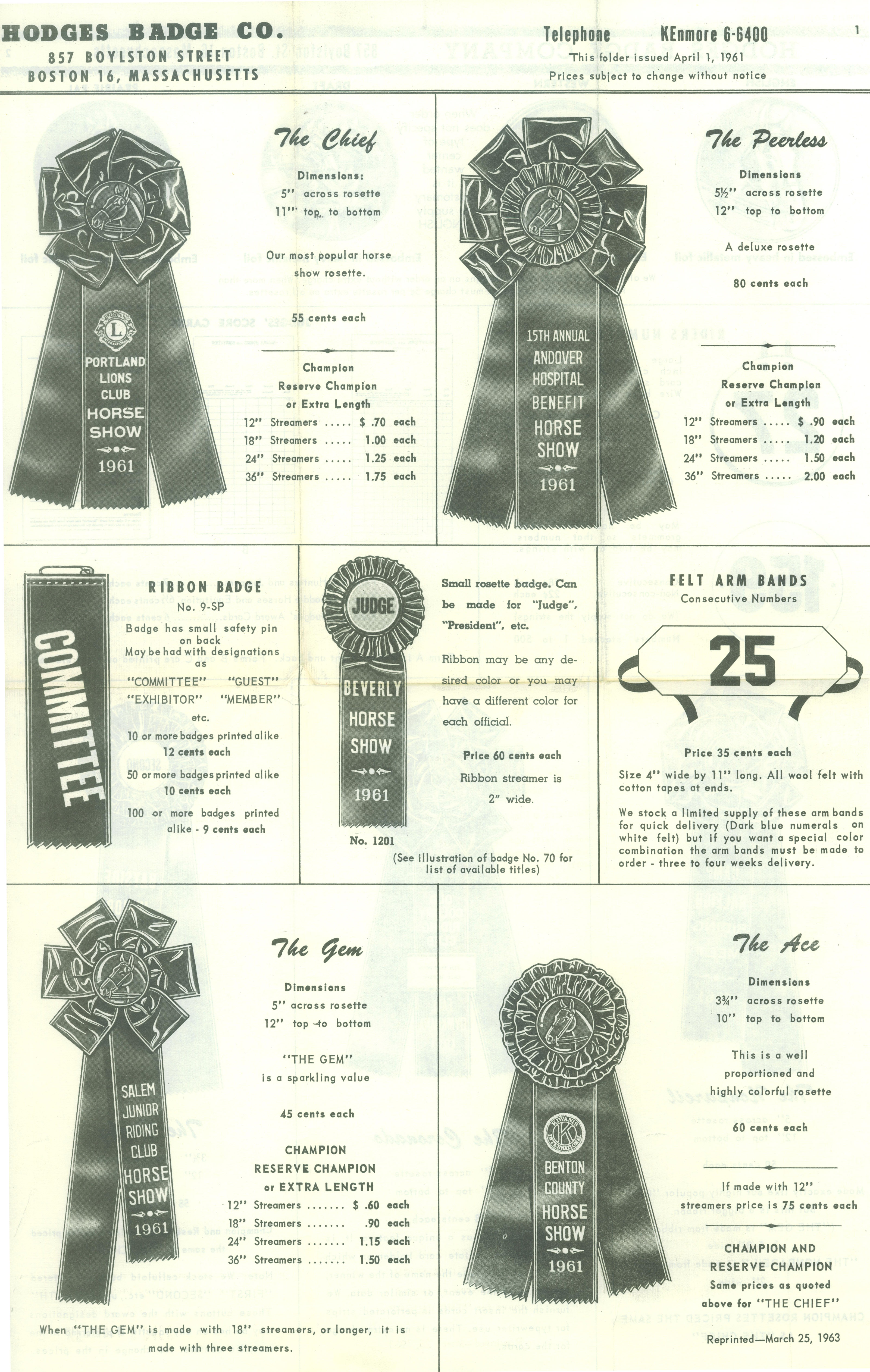 horse show ribbons | Hodges Badge Company's Blog